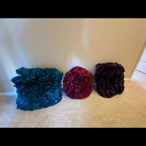 Pier One Ruffled Pillows (set of 3)